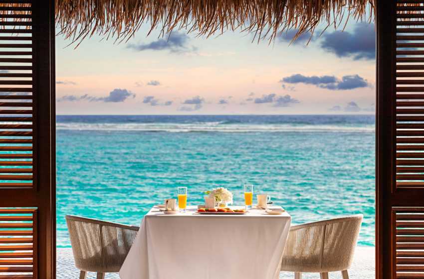 One&Only Reethi Rah Luxury Resort - North Male Atoll, Maldives - Overwater Dining Table