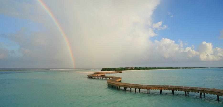 Soneva Jani Luxury Resort - Noonu Atoll, Medhufaru, Maldives - Tropical Private Island Overwater Boardwalk Aerial