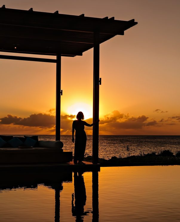 Amanyara Luxury Resort - Providenciales, Turks and Caicos Islands - Sunset Pool Lounge View