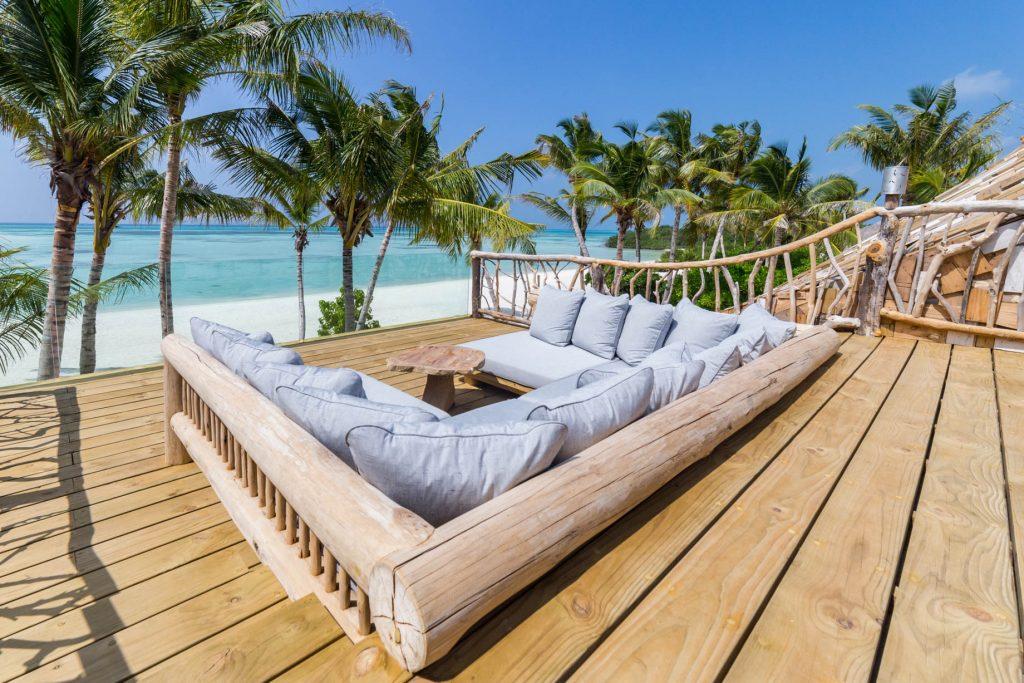 Soneva Jani Luxury Resort - Noonu Atoll, Medhufaru, Maldives - Crab Shack Rooftop Deck Lounge