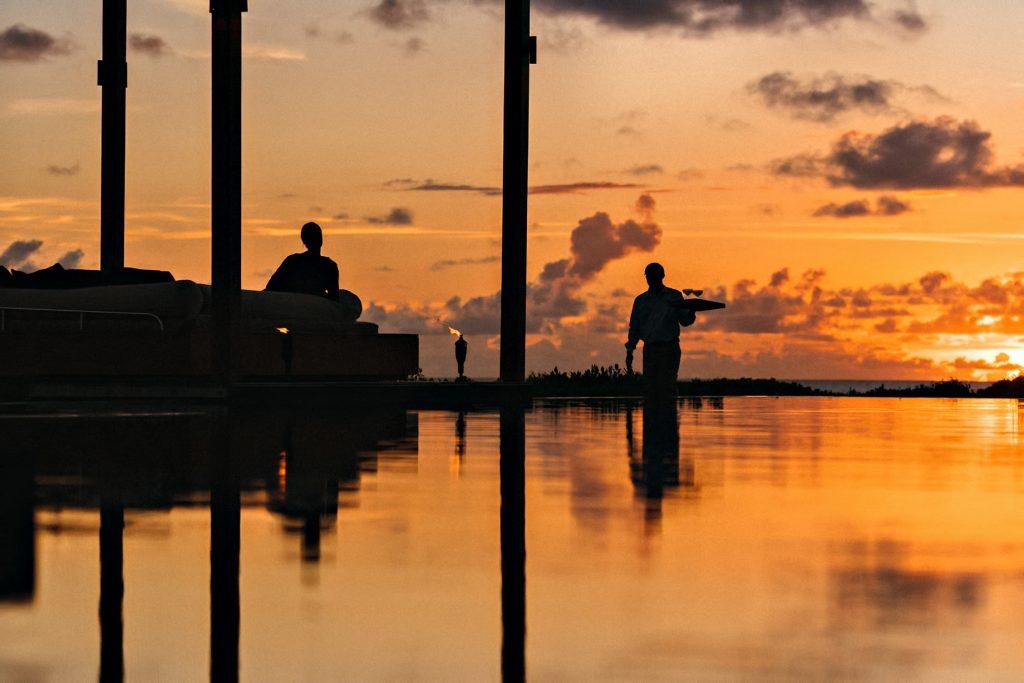 Amanyara Luxury Resort - Providenciales, Turks and Caicos Islands - Sunset Lounge Service