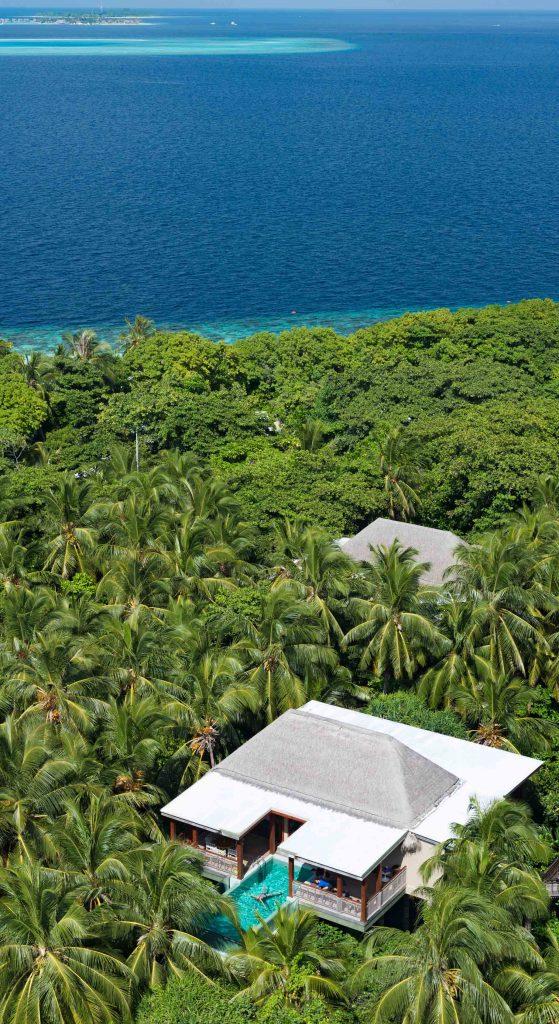 Amilla Fushi Luxury Resort and Residences - Baa Atoll, Maldives - Treetop Pool Villa Aerial
