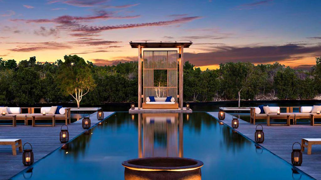 Amanyara Luxury Resort - Providenciales, Turks and Caicos Islands - Vlla Infinity Pool Sunset