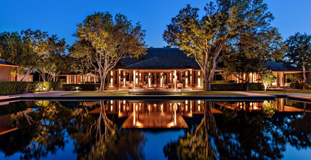 Amanyara Luxury Resort - Providenciales, Turks and Caicos Islands - Resort Reflecting Pool Sunset