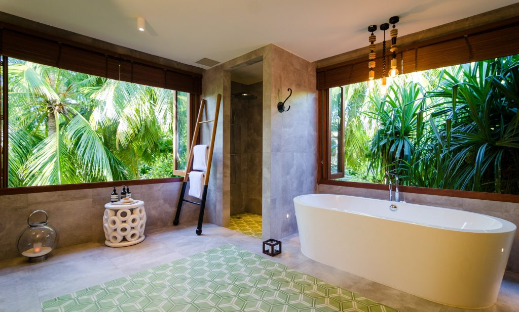 Amilla Fushi Luxury Resort and Residences - Baa Atoll, Maldives - Treetop Pool Villa Bathroom