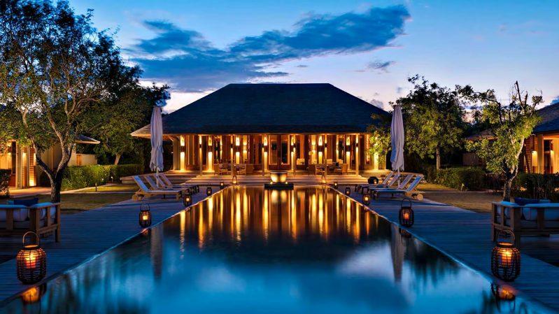 Amanyara Luxury Resort - Providenciales, Turks and Caicos Islands - Resort Infinity Pool Sunset