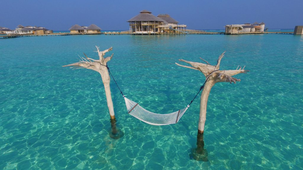 Soneva Jani Luxury Resort - Noonu Atoll, Medhufaru, Maldives - Tropical Ocean Overwater Hammock