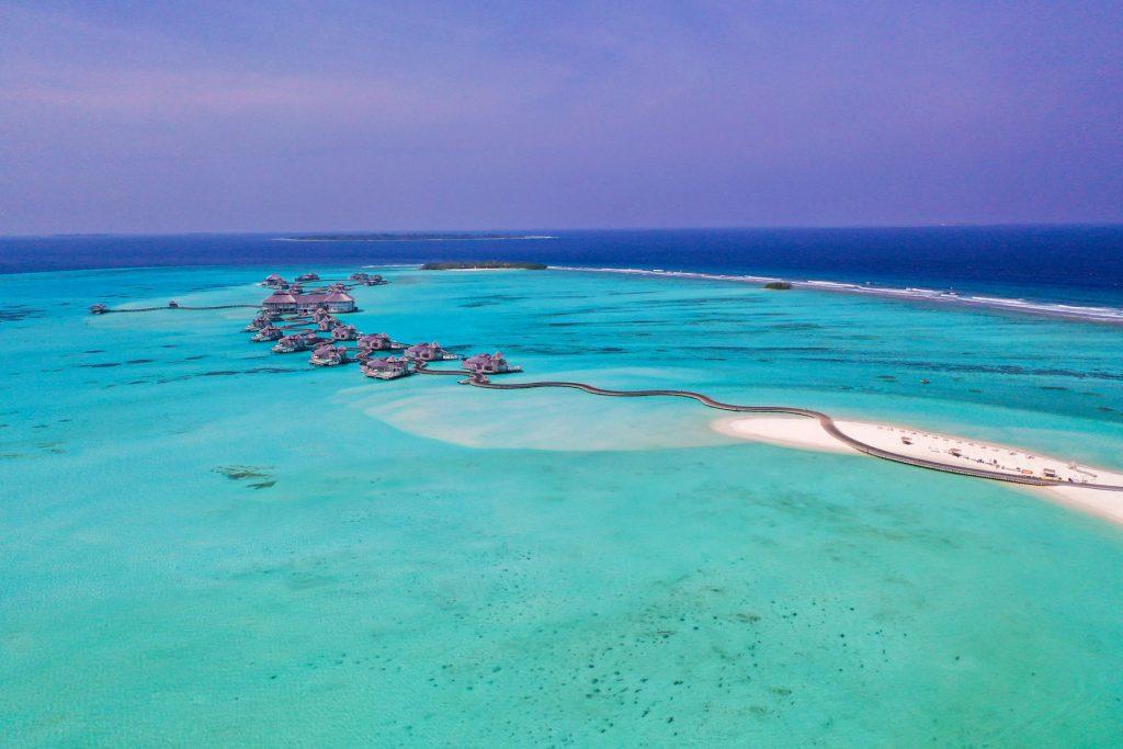 Soneva Jani Luxury Resort - Noonu Atoll, Medhufaru, Maldives - Overwater Jetty Boardwalk Aerial