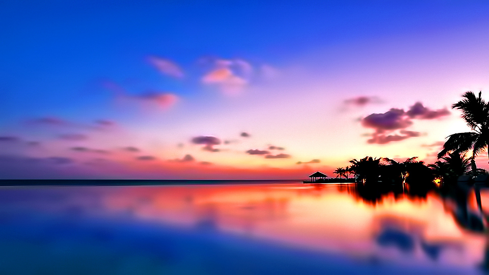 Velassaru Maldives Luxury Resort - South Male Atoll, Maldives - Pool Sunset