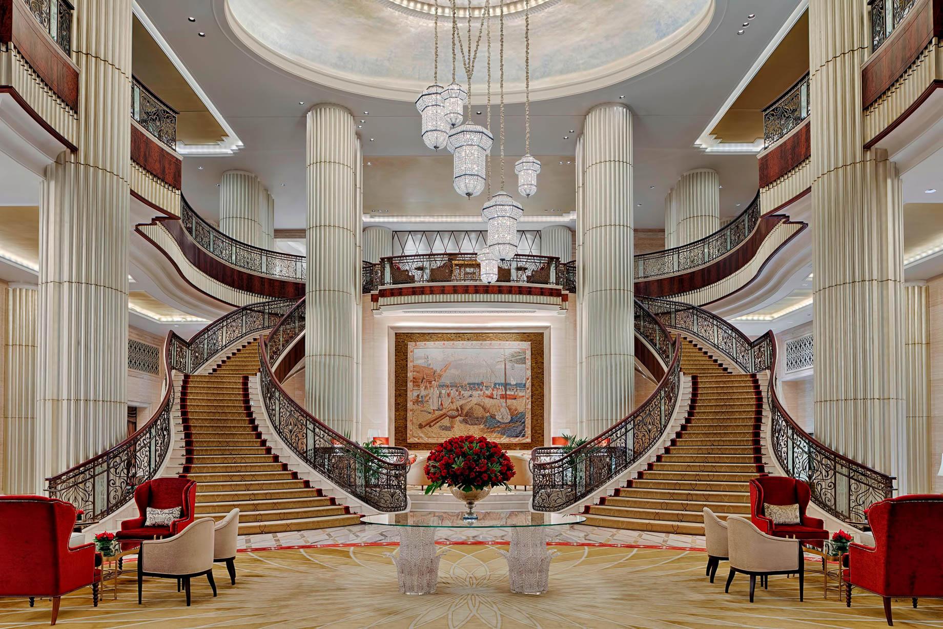 The St. Regis Abu Dhabi Luxury Hotel – Abu Dhabi, United Arab Emirates – Grand Lobby Staircase