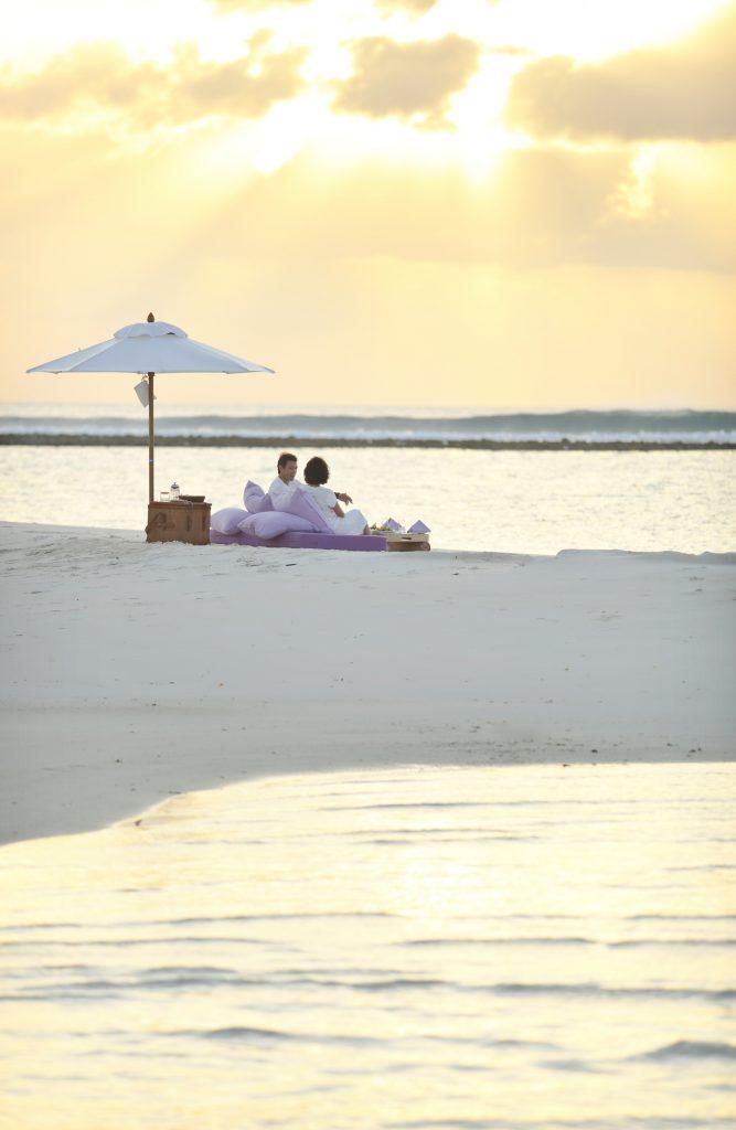 Soneva Jani Luxury Resort - Noonu Atoll, Medhufaru, Maldives - Beach Dining Sunset