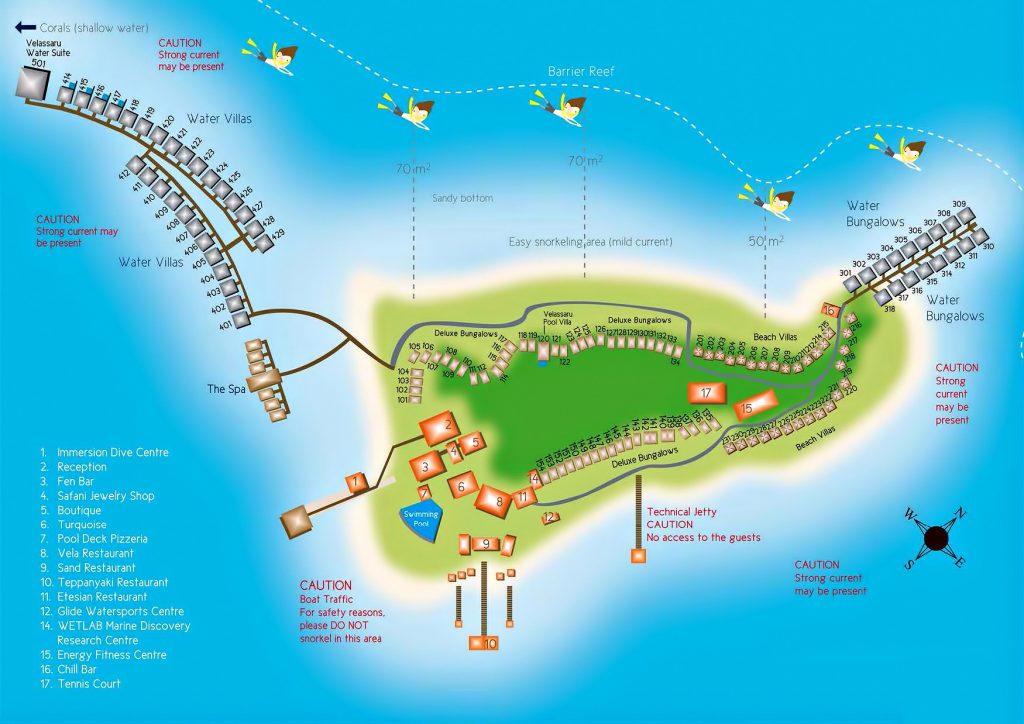 Map - Velassaru Maldives Luxury Resort - South Male Atoll, Maldives