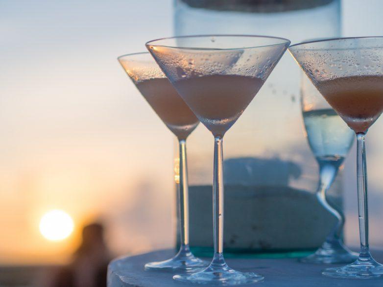 Soneva Jani Luxury Resort - Noonu Atoll, Medhufaru, Maldives - Sandbank Cocktails Sunset