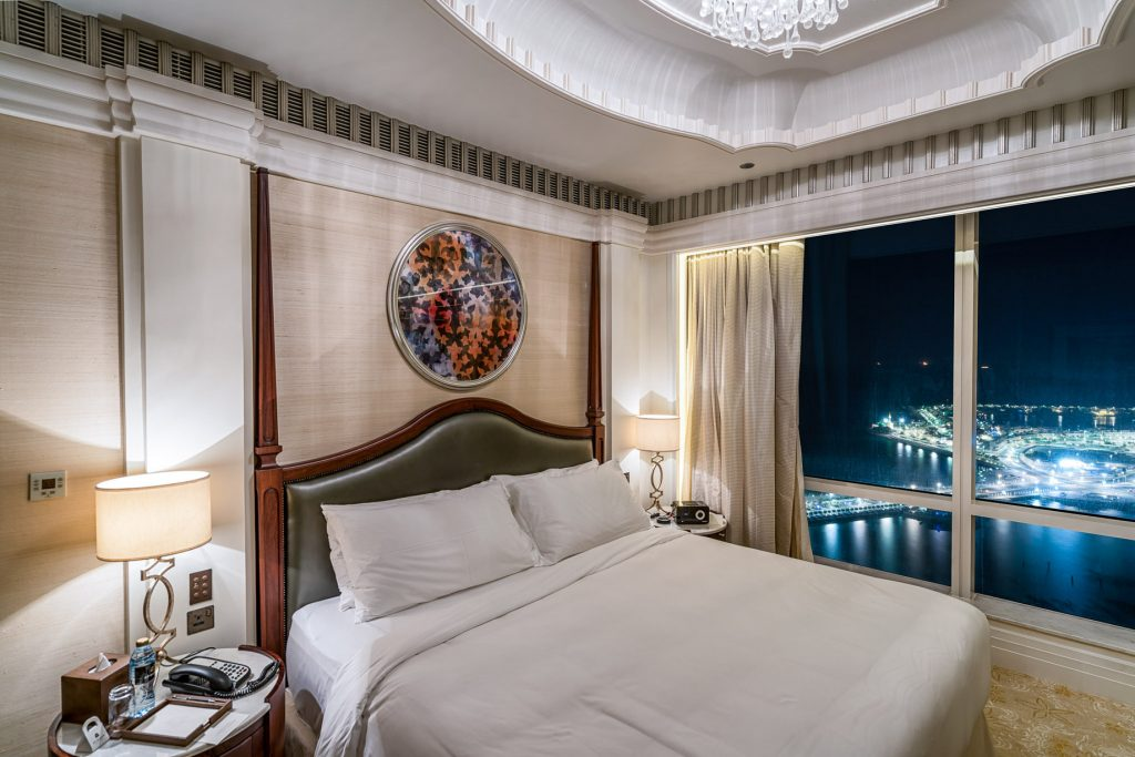 The St. Regis Abu Dhabi Luxury Hotel - Abu Dhabi, United Arab Emirates - Grand Deluxe Suite Night View