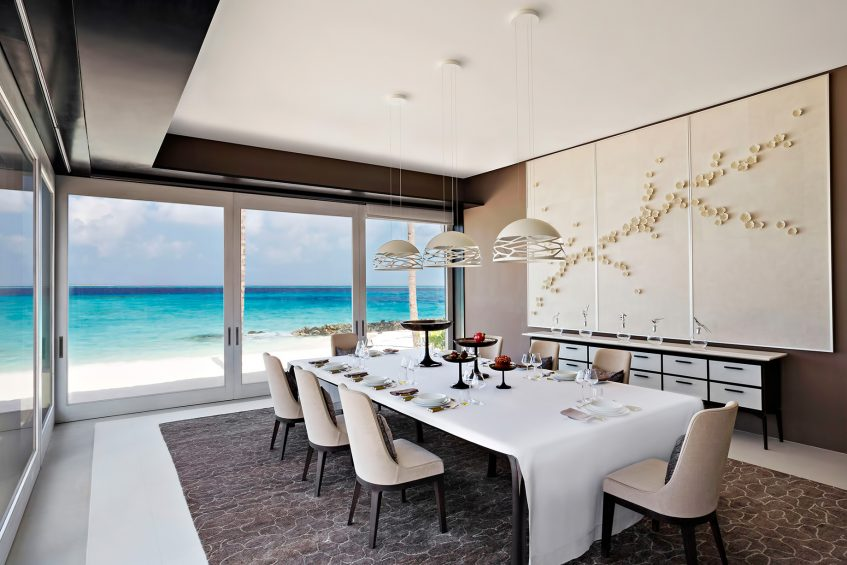 Cheval Blanc Randheli Luxury Resort - Noonu Atoll, Maldives - Private Island Villa Dining Room