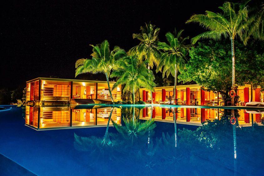Amilla Fushi Luxury Resort and Residences - Baa Atoll, Maldives - Beachfront Infinity Pool Night