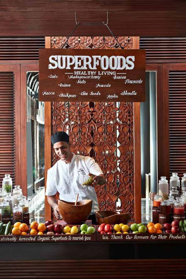 One&Only Reethi Rah Luxury Resort - North Male Atoll, Maldives - Resturant Superfoods