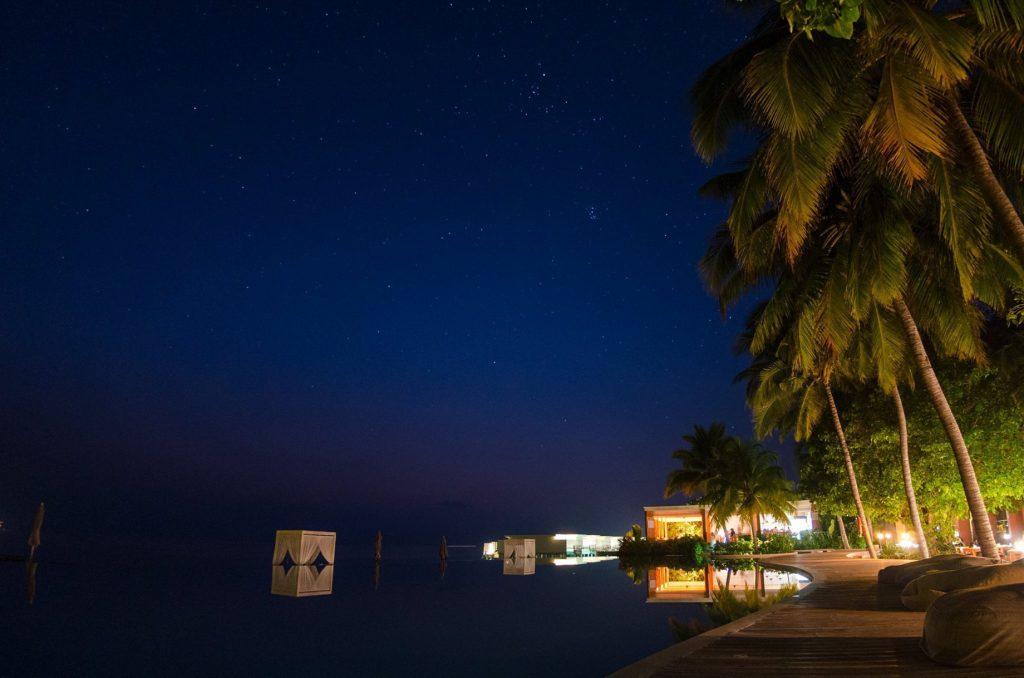 Amilla Fushi Luxury Resort and Residences - Baa Atoll, Maldives - Beachfront Infinity Pool Night Stars