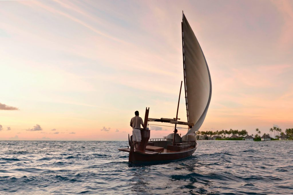 Cheval Blanc Randheli Luxury Resort - Noonu Atoll, Maldives - Indian Ocean Sunset Sailing