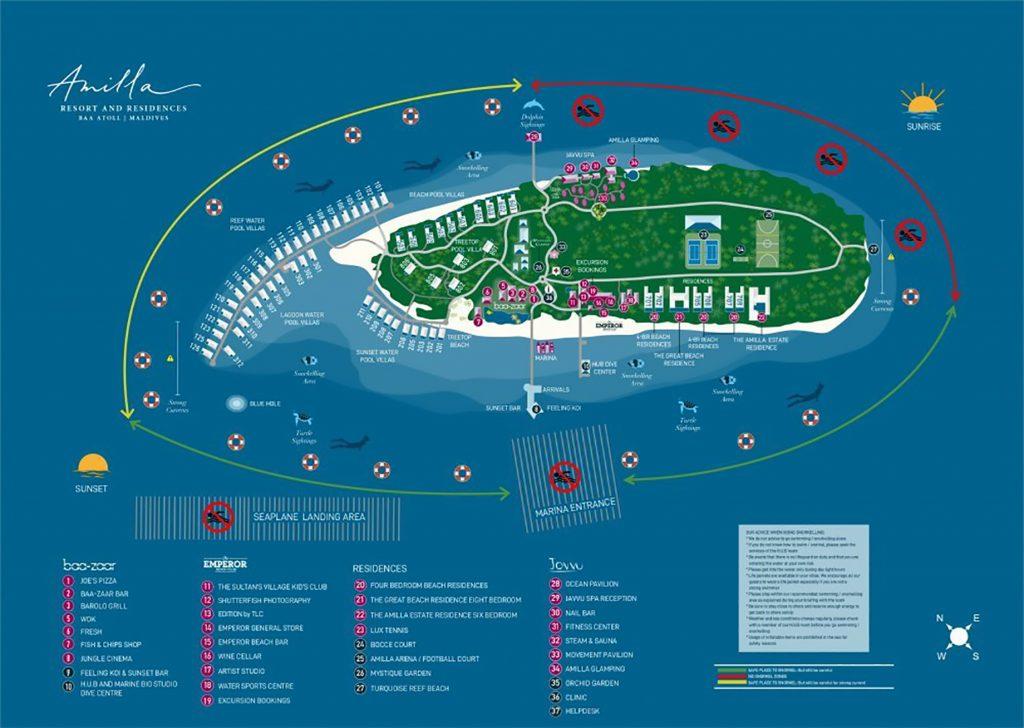 Map - Amilla Fushi Luxury Resort and Residences - Baa Atoll, Maldives