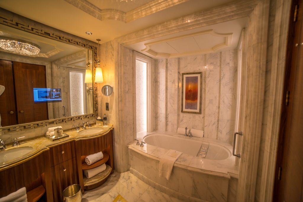 The St. Regis Abu Dhabi Luxury Hotel - Abu Dhabi, United Arab Emirates - Exceptionally Luxurious Bathroom Decor