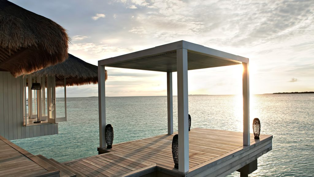 Cheval Blanc Randheli Luxury Resort - Noonu Atoll, Maldives - Overwater Spa Sunset