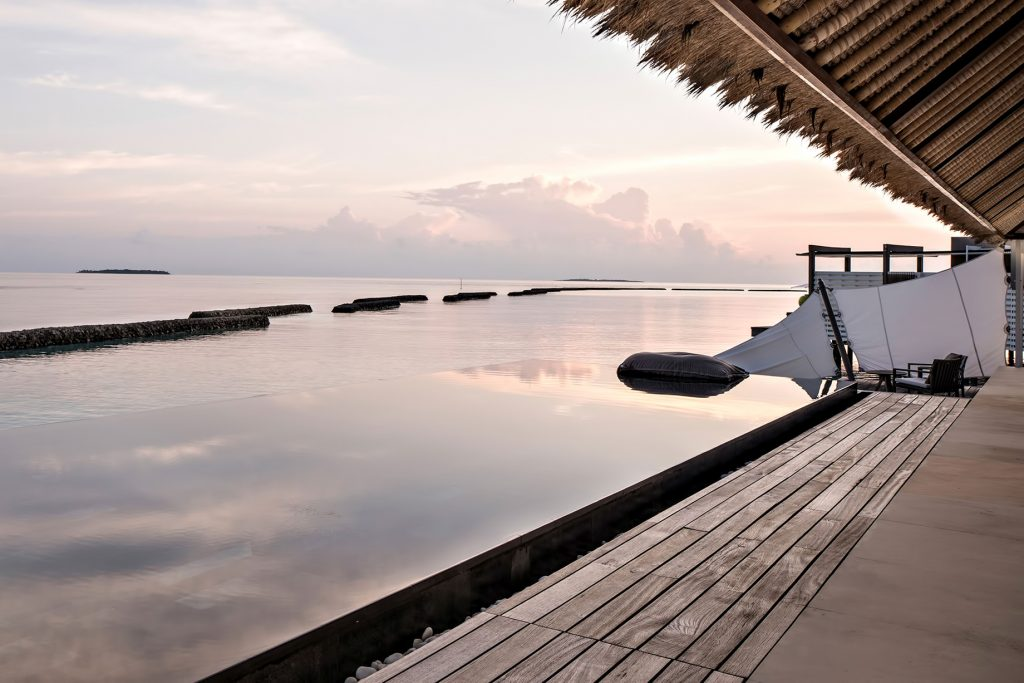 Cheval Blanc Randheli Luxury Resort - Noonu Atoll, Maldives - Overwater Infinity Pool Sunset