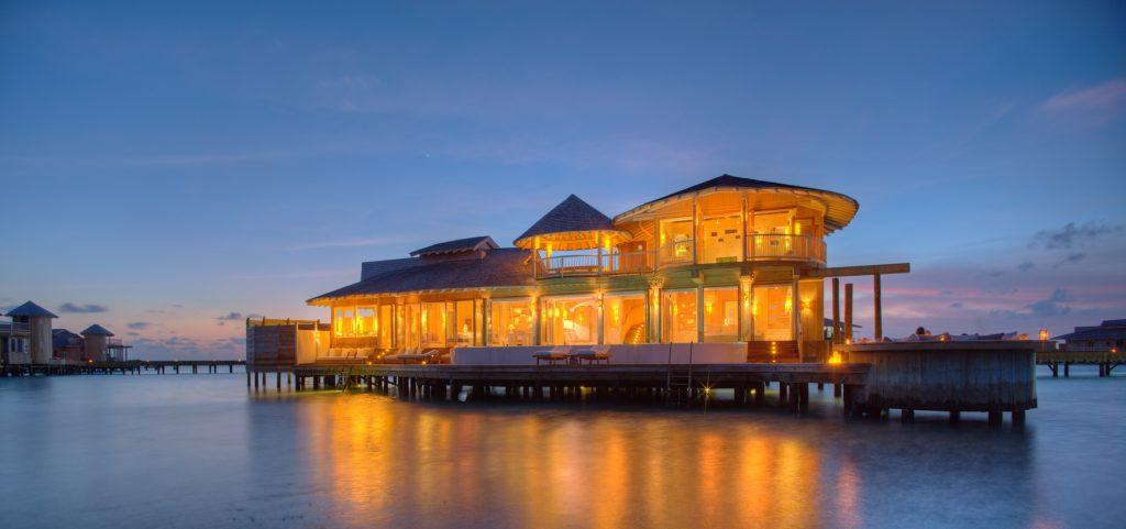 Soneva Jani Luxury Resort - Noonu Atoll, Medhufaru, Maldives - Overwater Villa with Pool Twilight