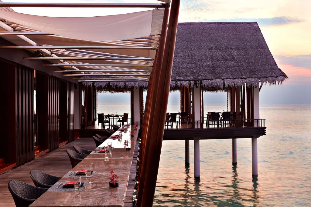 One&Only Reethi Rah Luxury Resort - North Male Atoll, Maldives - Tapasake Restaurant Overwater Terrace