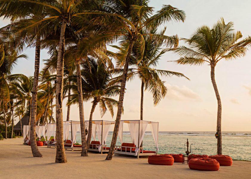 One&Only Reethi Rah Luxury Resort - North Male Atoll, Maldives - Fangitha Beach Cabanas Dusk