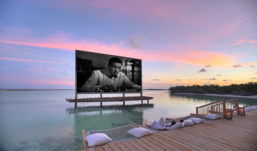 Soneva Jani Luxury Resort - Noonu Atoll, Medhufaru, Maldives - Overwater Cinema Paradiso Theatre Oceanview Sunset