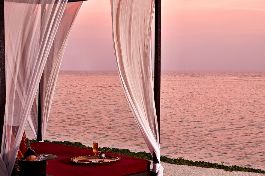 One&Only Reethi Rah Luxury Resort - North Male Atoll, Maldives - Fangitha Beach Cabanas Sunset