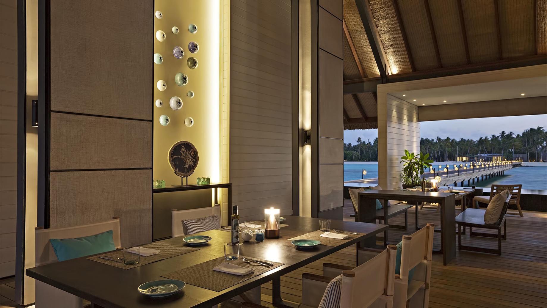 Cheval Blanc Randheli Luxury Resort - Noonu Atoll, Maldives - Deelani Restaurant Sunset