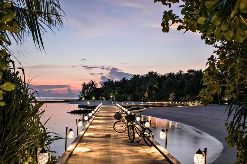 Cheval Blanc Randheli Luxury Resort - Noonu Atoll, Maldives - Overwater Boardwalk Sunset
