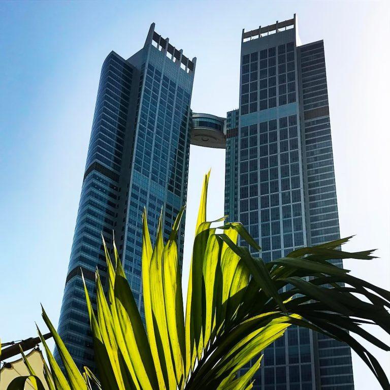 The St. Regis Abu Dhabi Luxury Hotel – Abu Dhabi, United Arab Emirates – Daytime Twin Tower View