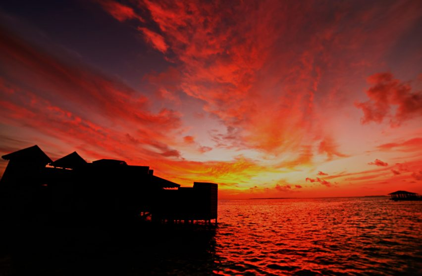 Soneva Jani Luxury Resort - Noonu Atoll, Medhufaru, Maldives - Overwater Villa Tropical Sunset