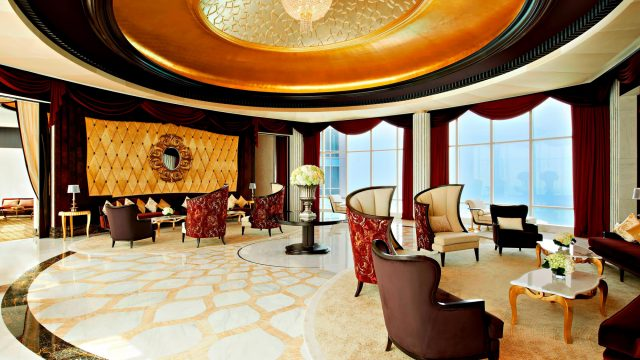 The St. Regis Abu Dhabi Luxury Hotel - Abu Dhabi, United Arab Emirates - Ultra Luxury Abu Dhabi Suite Living Room