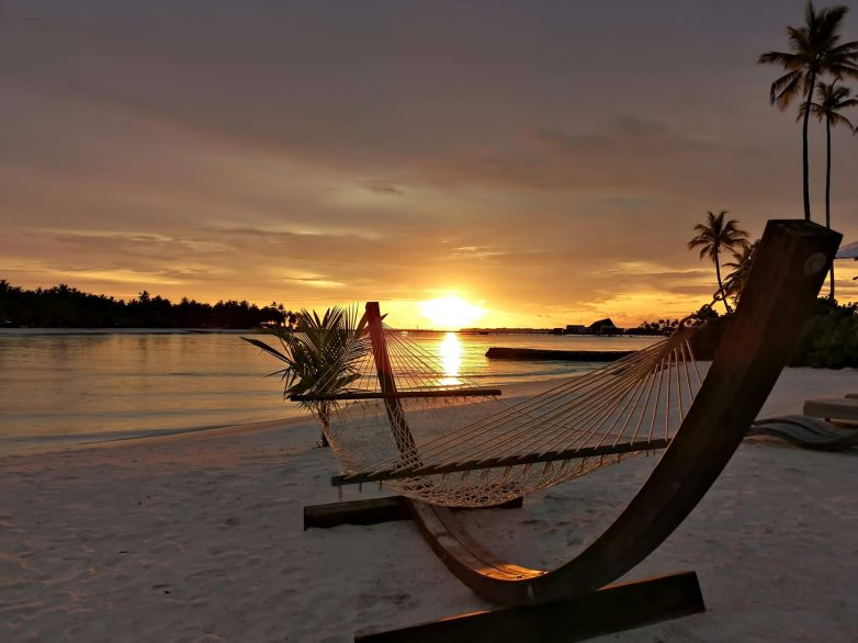 Cheval Blanc Randheli Luxury Resort - Noonu Atoll, Maldives - Private Beach Hammock Sunset