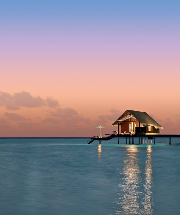One&Only Reethi Rah Luxury Resort - North Male Atoll, Maldives - Overwater Villa Twilight