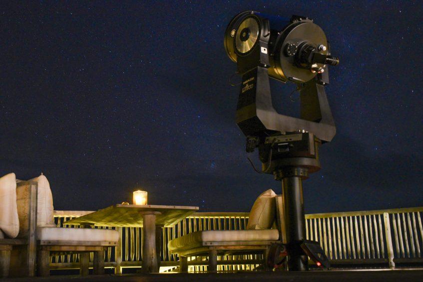 Soneva Jani Luxury Resort - Noonu Atoll, Medhufaru, Maldives - So Starstruck Overwater Dining Evening Telescope Stars