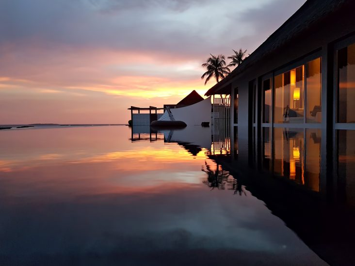 Cheval Blanc Randheli Luxury Resort - Noonu Atoll, Maldives - Overwater Villa Pool Sunset