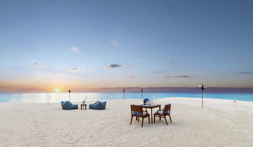 One&Only Reethi Rah Luxury Resort - North Male Atoll, Maldives - Private Beach Dinner Twilight