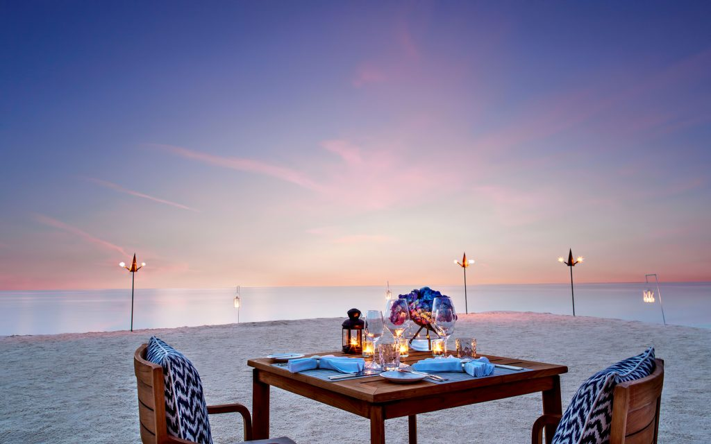 One&Only Reethi Rah Luxury Resort - North Male Atoll, Maldives - Private Sandbank Dinner Sunset