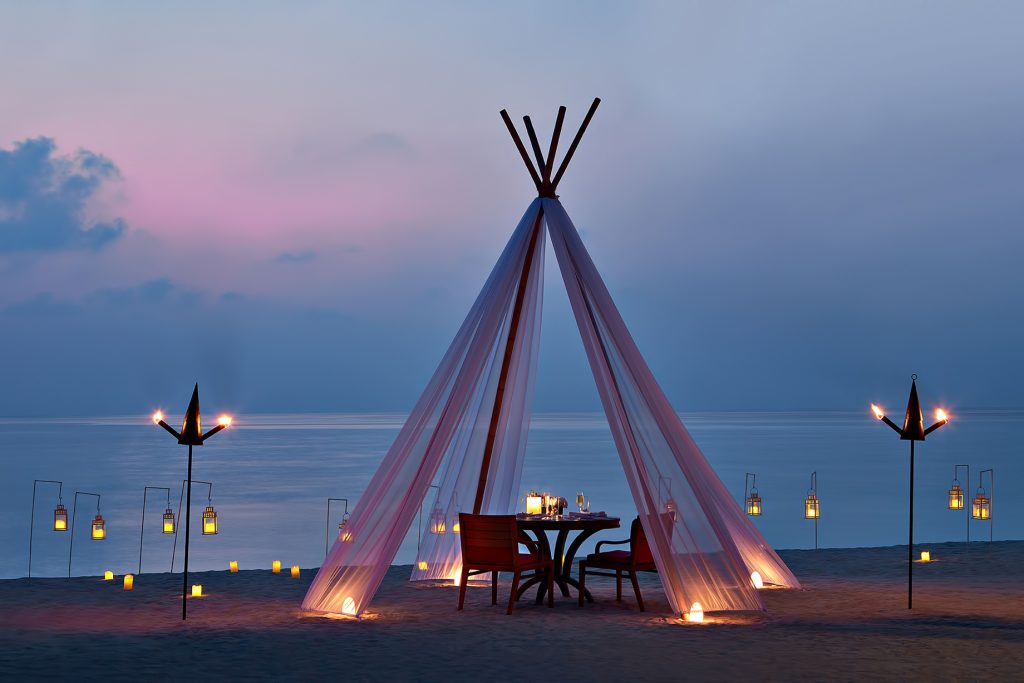 One&Only Reethi Rah Luxury Resort - North Male Atoll, Maldives - Private Sunset Beach Dining