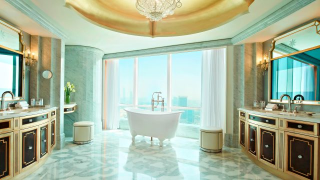 The St. Regis Abu Dhabi Luxury Hotel - Abu Dhabi, United Arab Emirates - Al Manhal Suite Bathroom