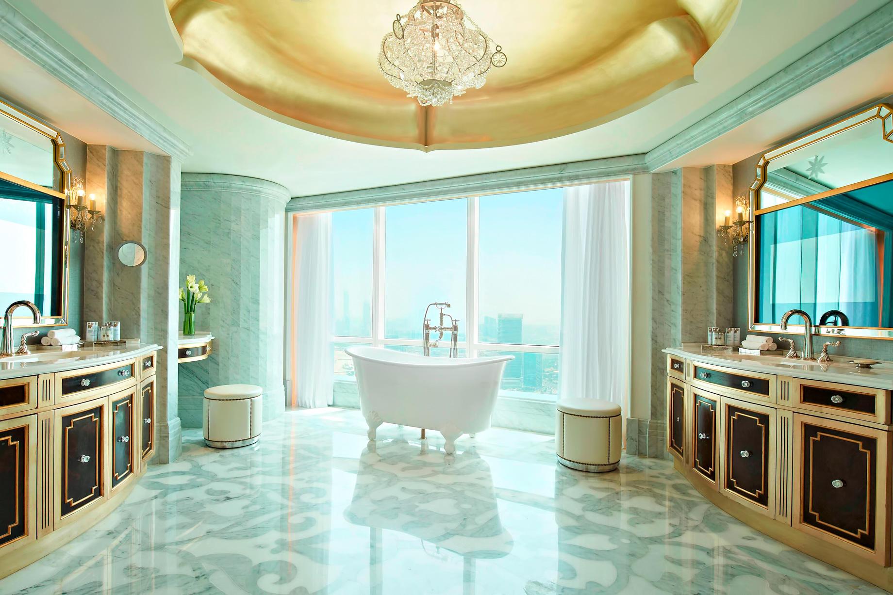 The St. Regis Abu Dhabi Luxury Hotel - Abu Dhabi, United Arab Emirates - Al Manhal Suite Bathroom