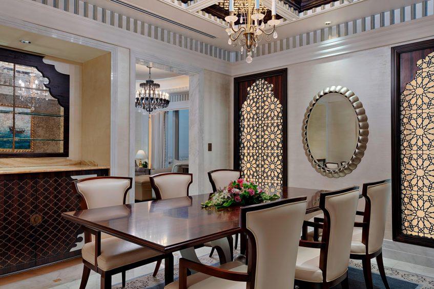 The St. Regis Abu Dhabi Luxury Hotel - Abu Dhabi, United Arab Emirates - Al Mushref Suite Dining Room