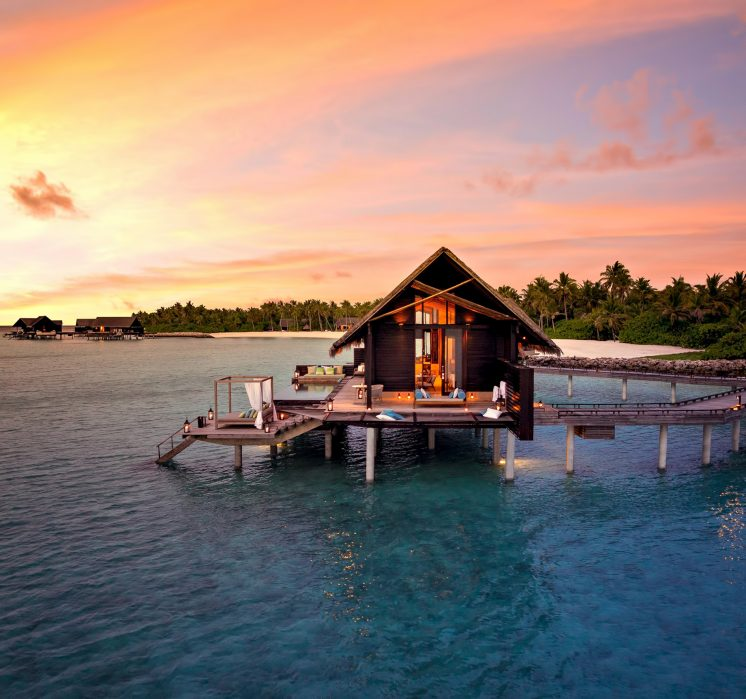 One&Only Reethi Rah Luxury Resort - North Male Atoll, Maldives - Grand Overwater Villa Sunset