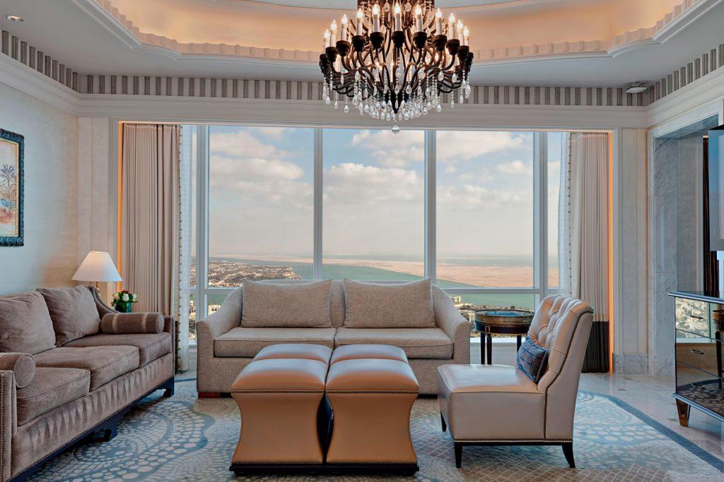 The St. Regis Abu Dhabi Luxury Hotel - Abu Dhabi, United Arab Emirates - Al Mushref Suite Living Room