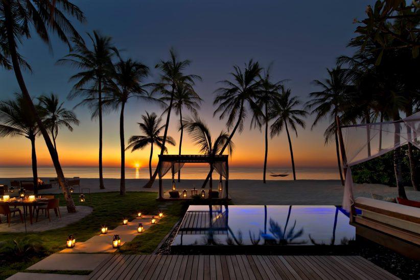 One&Only Reethi Rah Luxury Resort - North Male Atoll, Maldives - Beachfront Villa Pool Sunset